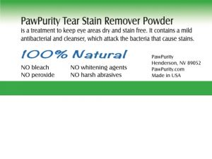 Ingredients for PawPurity Tear Stain Remover Powder