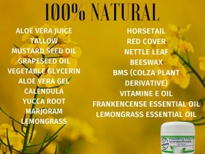 List of all the natural ingredients in PawPurity Healing Paw Conditioner
