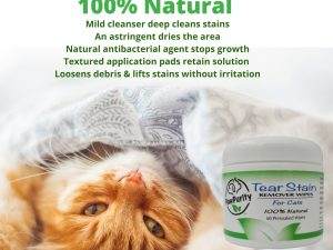 PawPurity Tear Stain Remover Wipes for Dogs image shows all the natural qualities