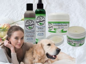 This is a Valentine's Day promotion of PawPurity's Flea & Tick Shampoo, Spray and Healing Paw Conditioner hoping that people will start using natural products more.