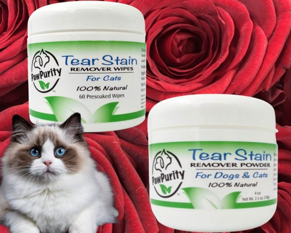 Wishing everyone and their dog a Happy Valentine's Day with a gift idea for cat tear stains.
