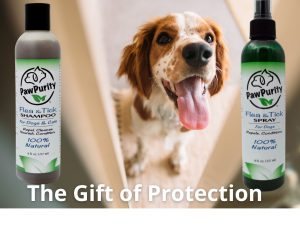 Two PawPurity Gifts in a Set to Protect Dogs against Fleas
