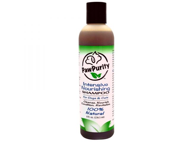 PawPurity Intensive Shampoo is an 8 oz all natural pet shampoo that gets rid of dander and dryness.