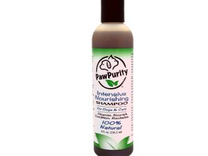 PawPurity Intensive Nourishing Pet Shampoo is an all natural product as shown on the featured bottle.
