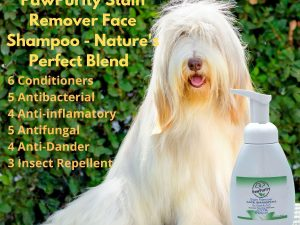PawPurity Stain Remover Face Shampoo is a blend of natural ingredients from plants and essential oils