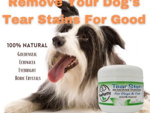 PawPurity Tear Stain Remover Powder gets rid of tear stains on dogs naturally as shown in this list of ingredients
